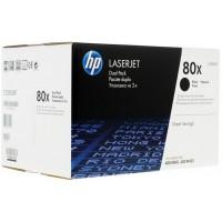 Упаковка из 2-х оригинальных  картриджей HP 80X