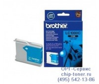 Струйный картридж голубой Brother LC1000C оригинальный